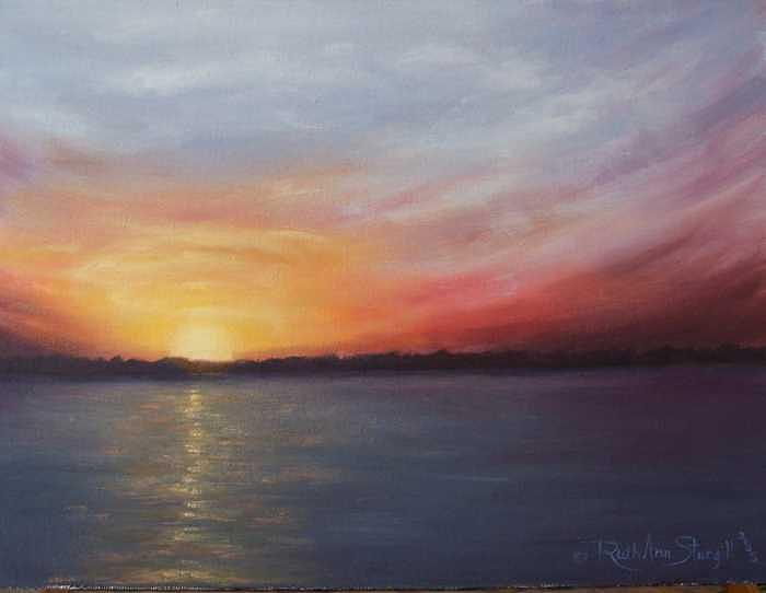 Morning Glow Painting by Ruth Ann Sturgill