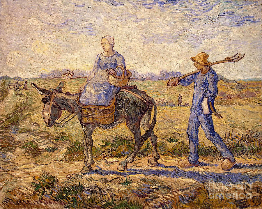 Morning Painting - Morning Going Out To Work by Vincent Van Gogh