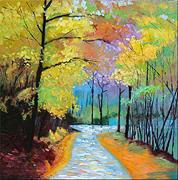Landscape Painting - Morning Greeting by Jeffrey Jinyu Liu