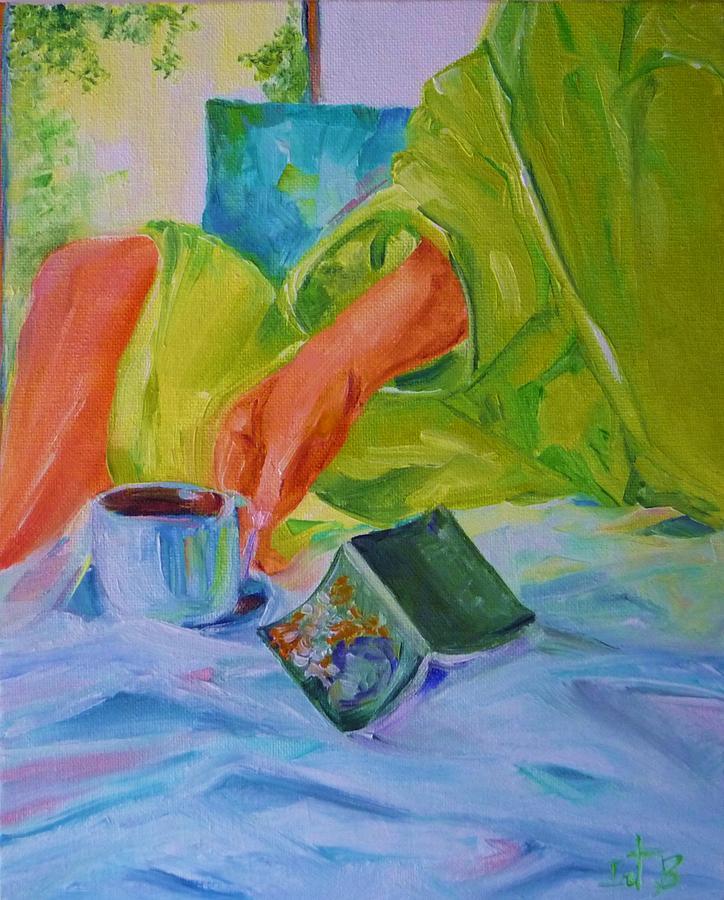 Morning Coffee Painting - Morning Habit by Irit Bourla