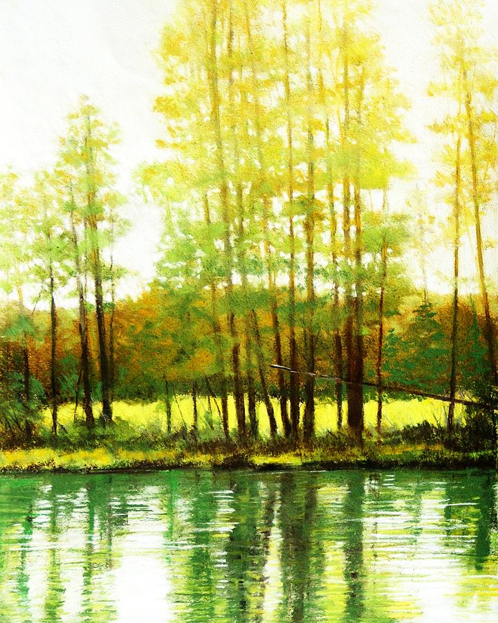 Landscape Painting - Morning Haze by Mark Henthorn