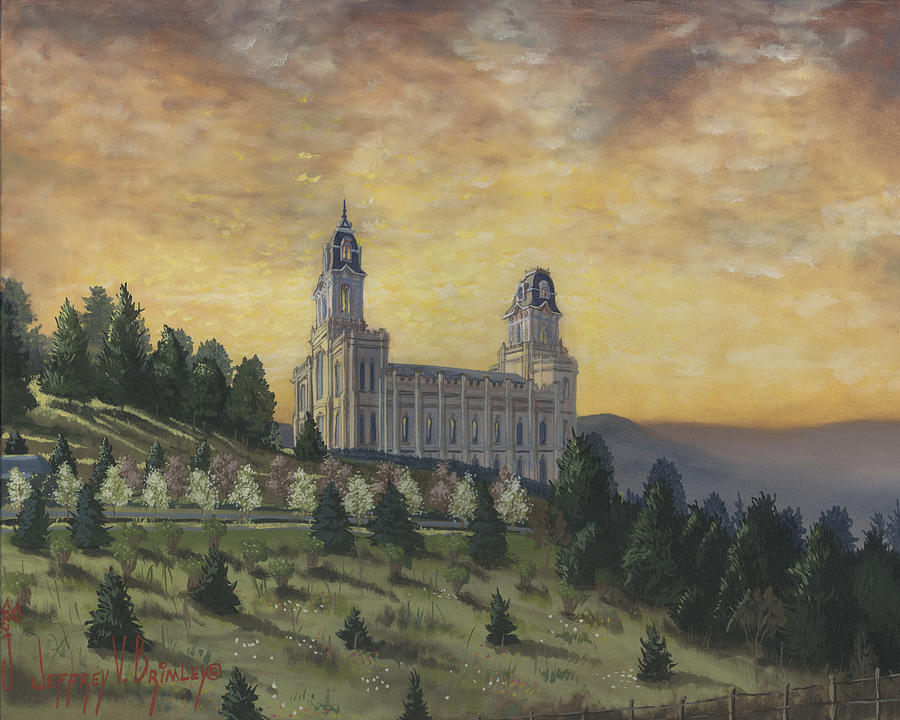 Temple Painting - Morning He Came Again Into The Temple by Jeff Brimley