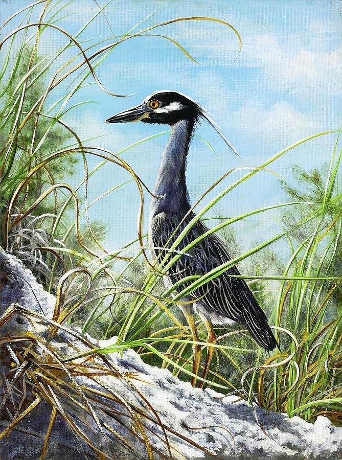 Bird Painting - Morning Hunt by Joan Garcia