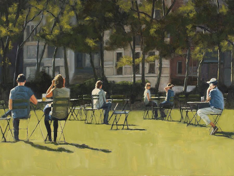 Morning in Bryant Park two by Tate Hamilton
