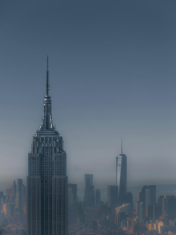 Skyscraper Photograph - Morning In New York by Chris Fletcher