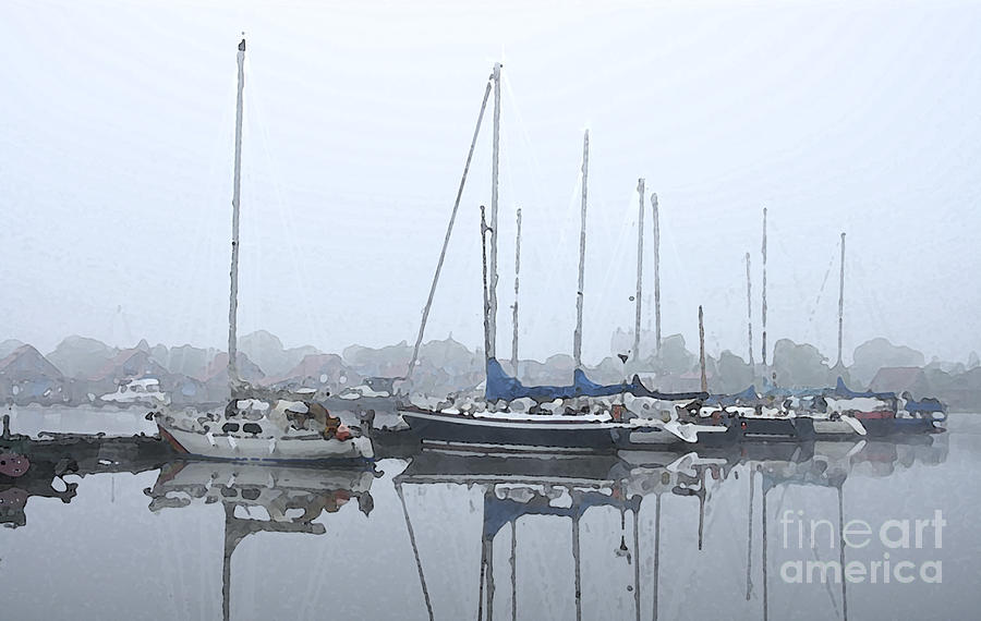 Boat Painting - Morning In The Harbor by Steve K
