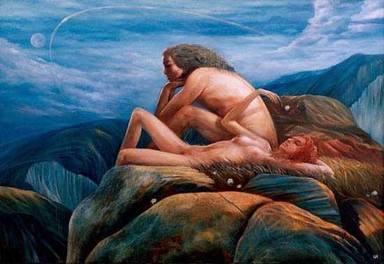 Romantic Painting - Morning by Izya Shlosberg