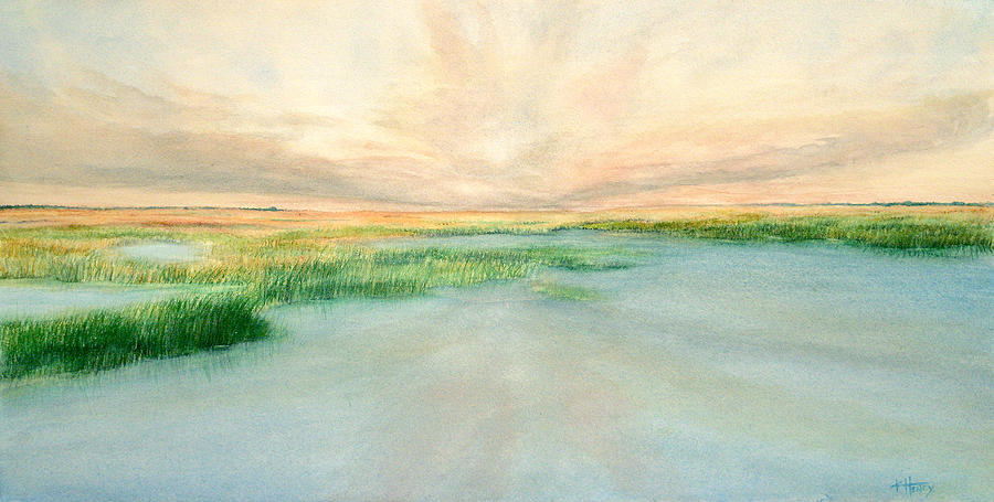 Landscape Painting - Morning by Kathie Henry