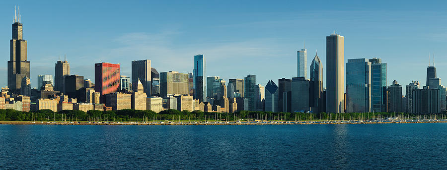 Chicago Photograph - Morning Lakefront by Donald Schwartz