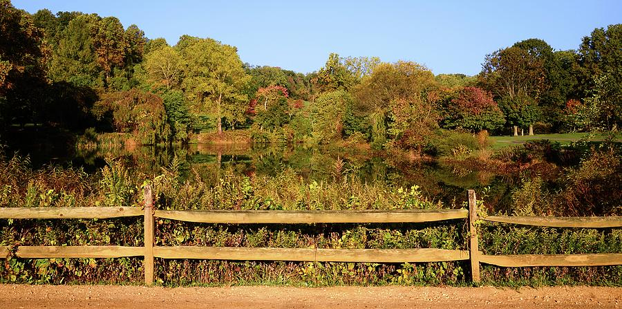 Autumn Photograph - Morning Landscape In The Park by Angie Tirado