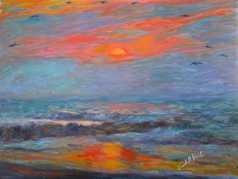 Pawleys Island Painting - Pawleys Island Morning Light Stage One by Kendall Kessler