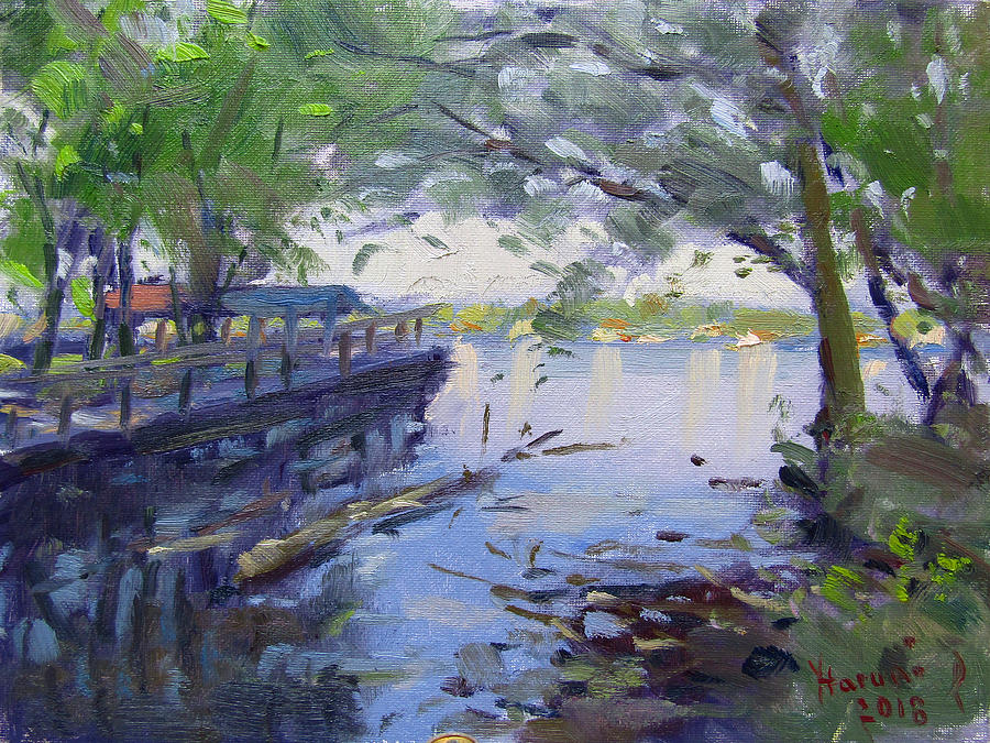 Morning Light Painting - Morning Light By The River by Ylli Haruni