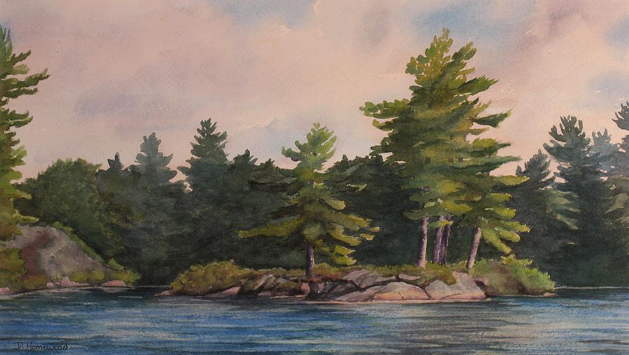 Island Painting - Morning Light  by Debbie Homewood