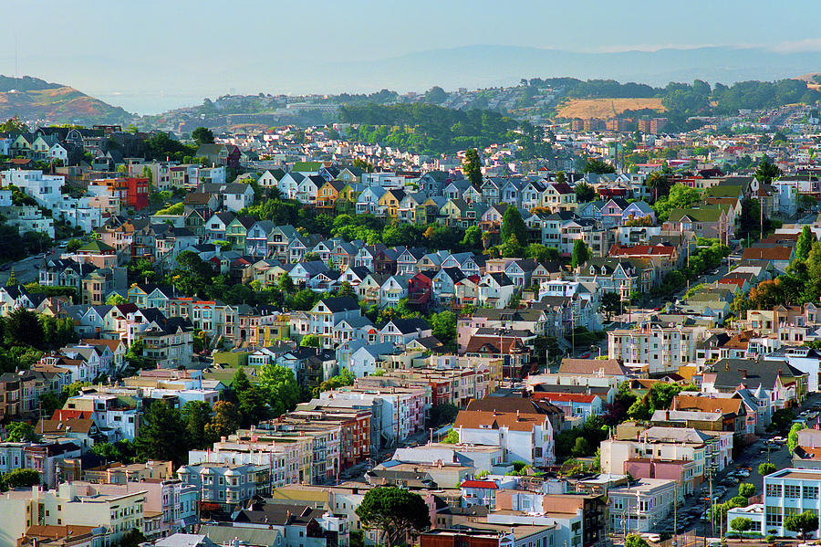 Morning Light, Dolores Heights, Noe Valley, The Castro, San Francisco Cityscape Photograph