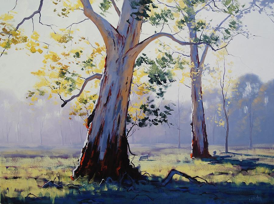 River Painting - Morning Light Eucalypt by Graham Gercken