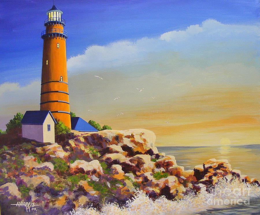 Landscape Painting - Morning Light by Hugh Harris