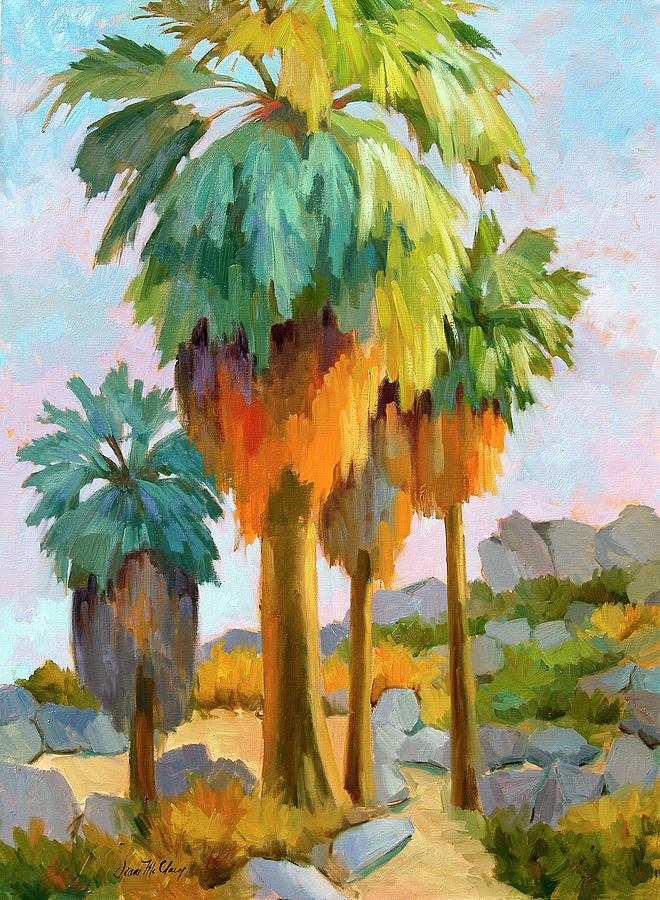 Palm Springs Painting - Morning Light Indian Canyons by Diane McClary