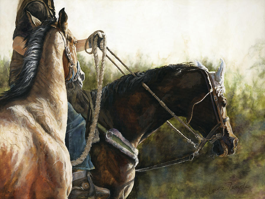 Horses Painting - Morning Light by Leisa Temple