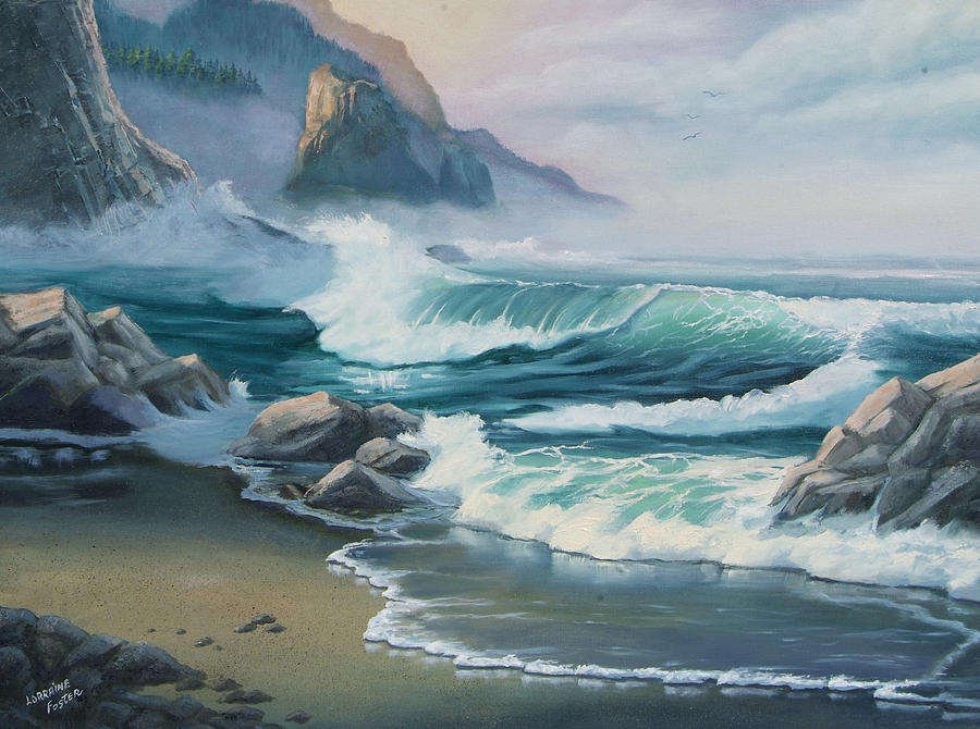 Seascapes Painting - Morning Light by Lorraine Foster