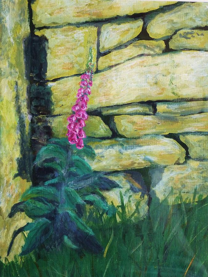 Foxglove Painting - Morning Light On A Foxglove by Nigel Radcliffe