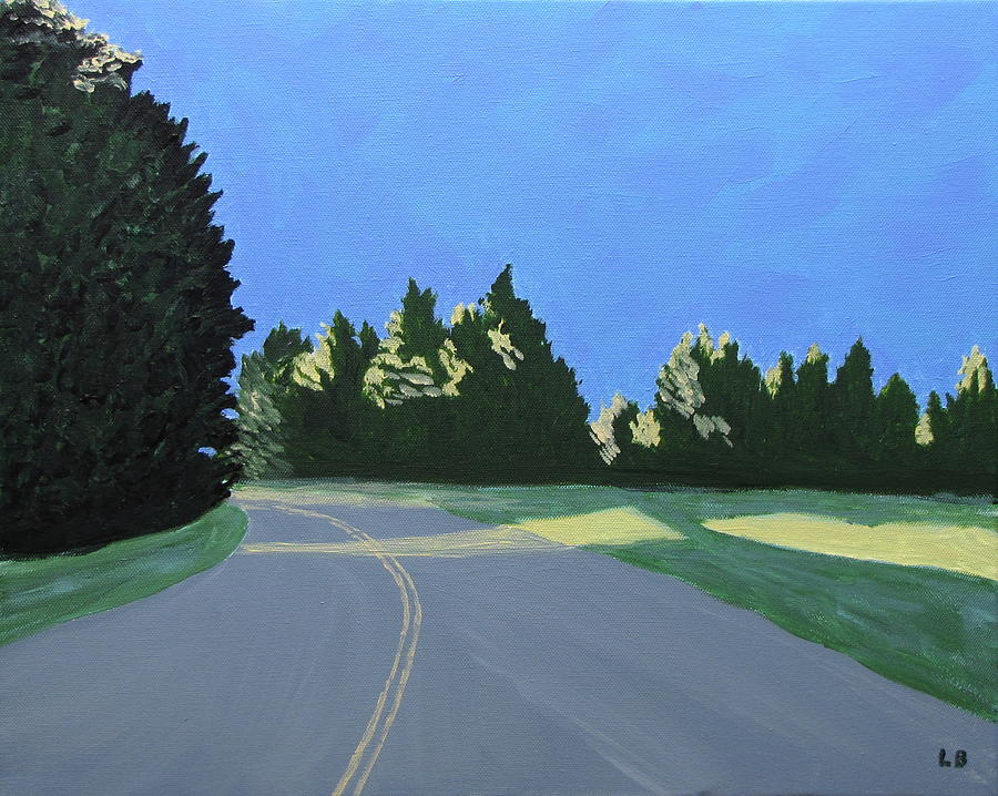Landscape Painting - Morning Light Uma by Laurie Breton