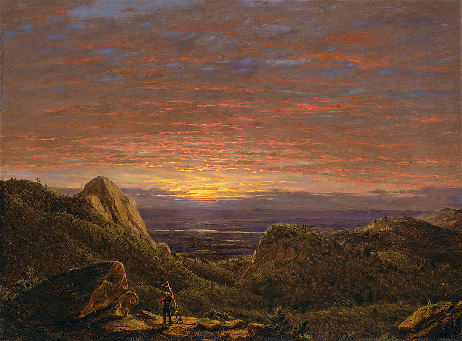 Frederic Edwin Church Painting - Morning Looking East Over The Hudson Valley From The Catskill Mountains by Frederic Edwin Church