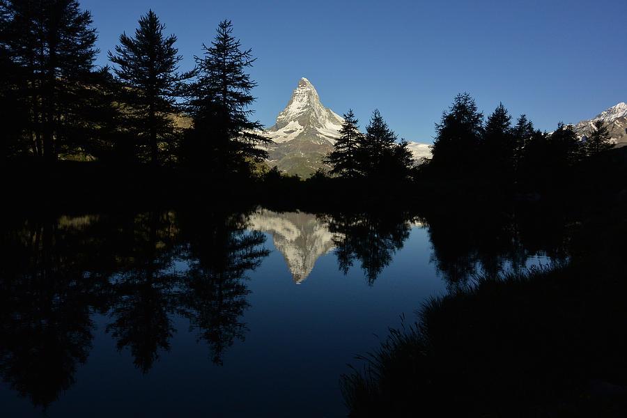 Hiking Photograph - Morning Matterhorn on Grindjisee by Two Small Potatoes