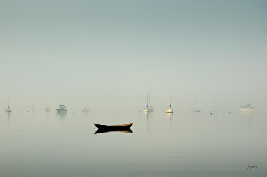 Morning Mist Bristol Harbor by David Gordon