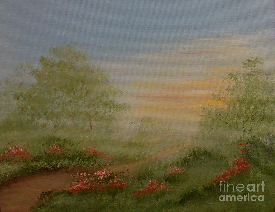 Morning Painting - Morning Mist by Leea Baltes