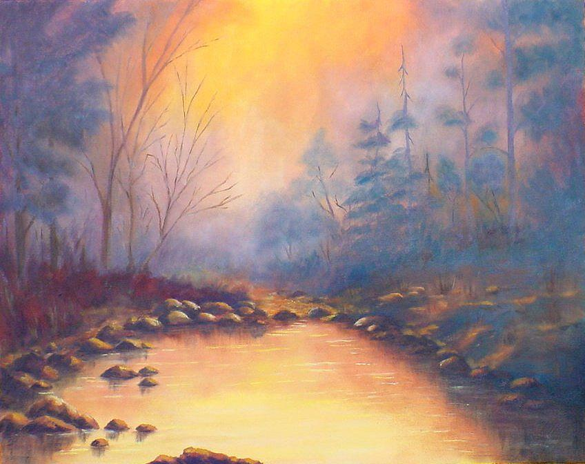 Sunrise Painting - Morning Mist by Merle Blair
