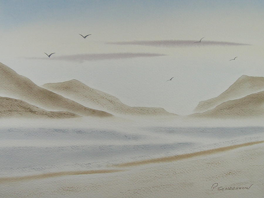 Seascape Painting - Morning Mist by Richard Schoessow
