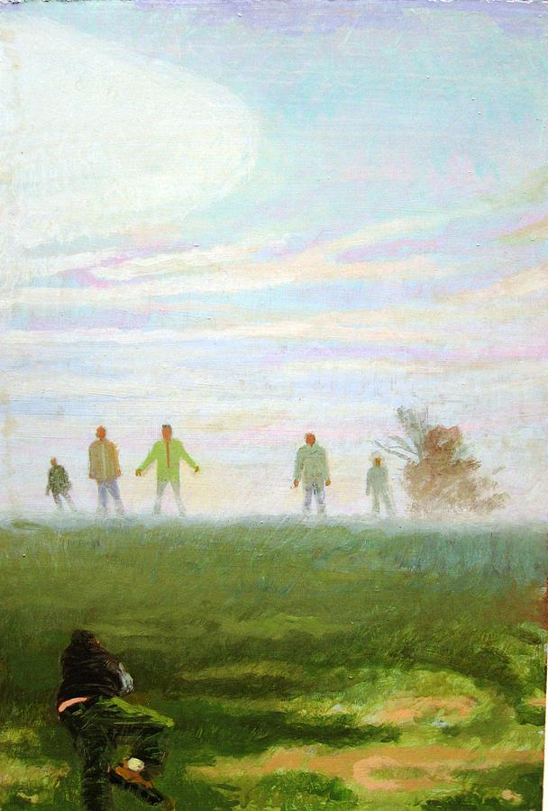 Landscape Painting - Morning Mist  by Roland Becerra