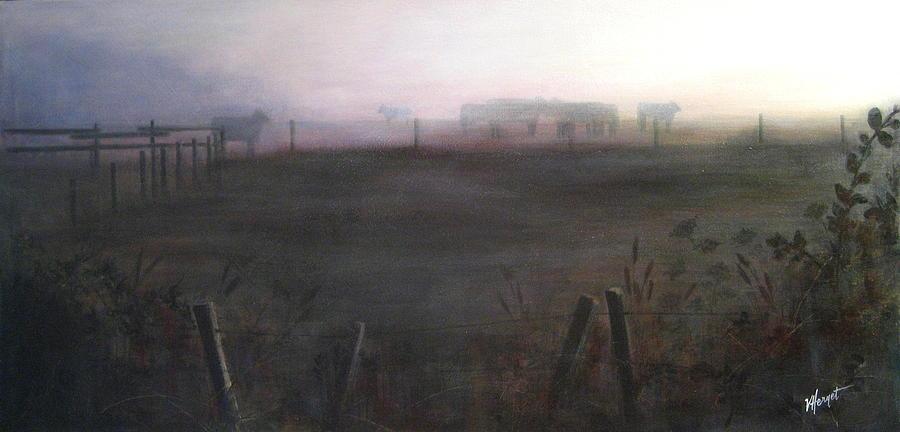 Ladner Painting - Morning Mist by Victoria Heryet