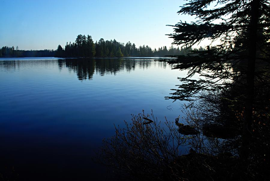 Chad Lake Photograph - Morning On Chad Lake by Larry Ricker