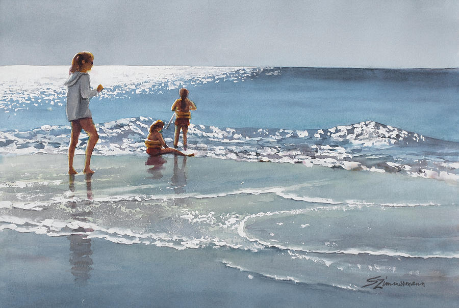 Morning on the Beach by Sue Zimmermann