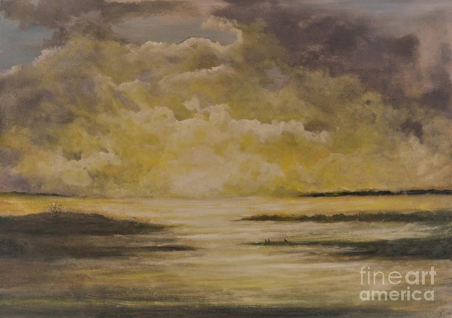 Sunset Painting - Morning On The Chesapeake by Anne Buffington