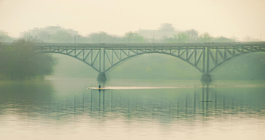 Morning Photograph - Morning On The Schuylkill River - Strawberry Mansion Bridge by Bill Cannon