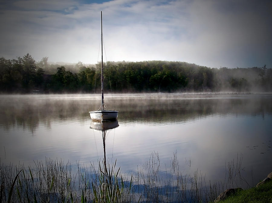 Landscape Photograph - Morning On White Sand Lake by Lauren Radke