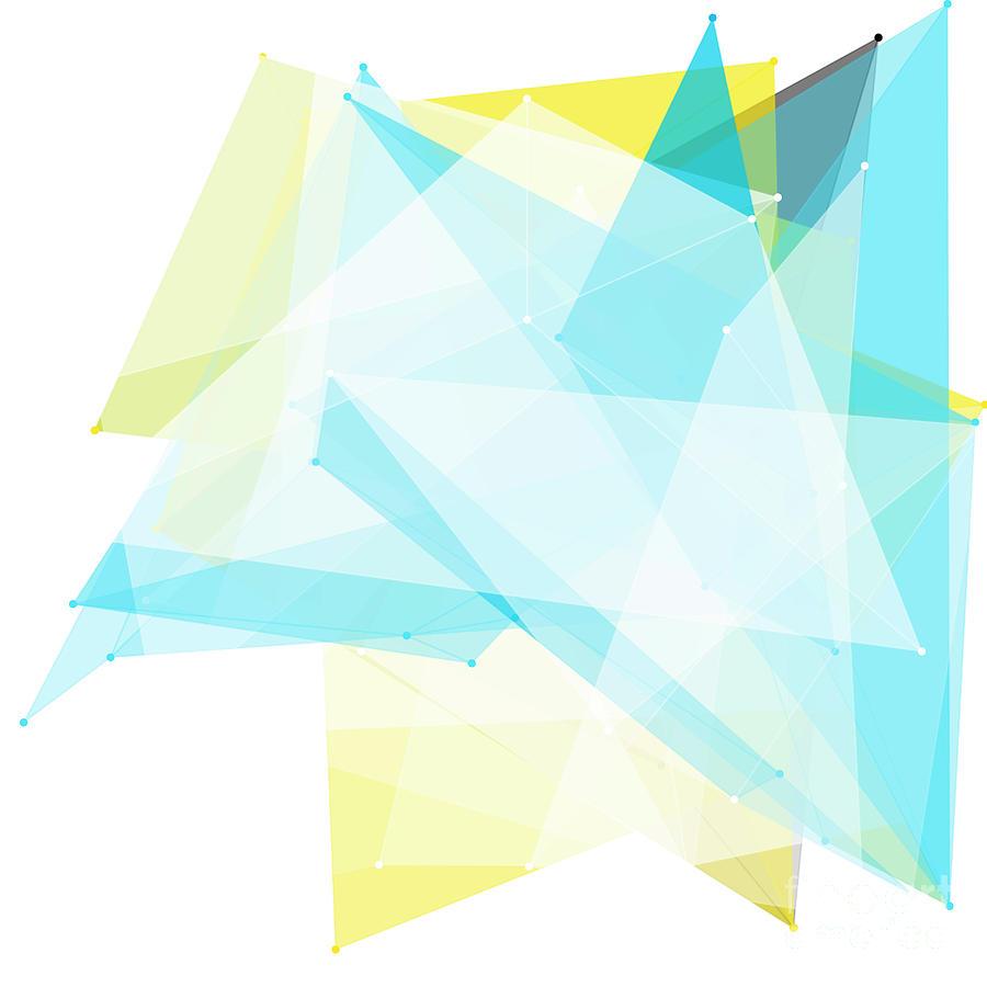 Abstract Digital Art - Morning Polygon Pattern by Frank Ramspott