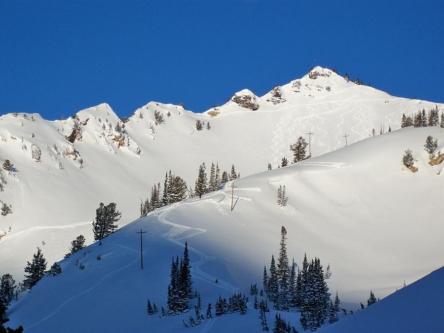 Ski Photograph - Morning Pow Wow by Michael Cuozzo