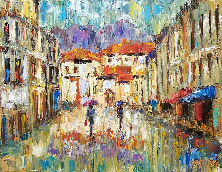 Landscape Painting - Morning Rain by Debra Hurd