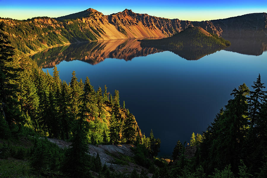 Morning Reflection on Crater Lake by John Hight