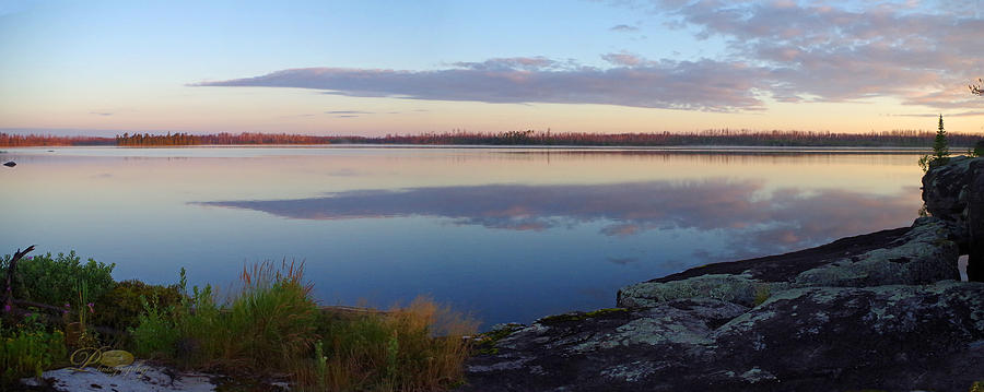 Boundary Waters Canoe Area Photograph - Morning Reflections In The Bwca by Michael Johnk