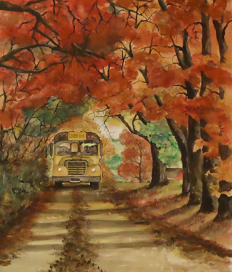 Autumn Painting - Morning Ride by Andrea Birdsey Kelly
