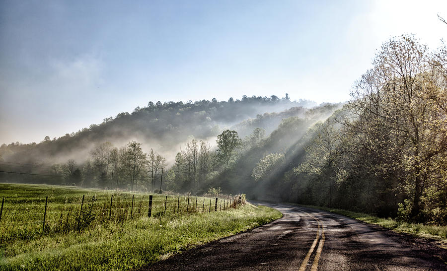 Landscape Photograph - Morning Ride by Keith Bowen