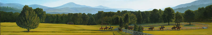 Mountain Painting - Morning Ride by Suzanne Shelden