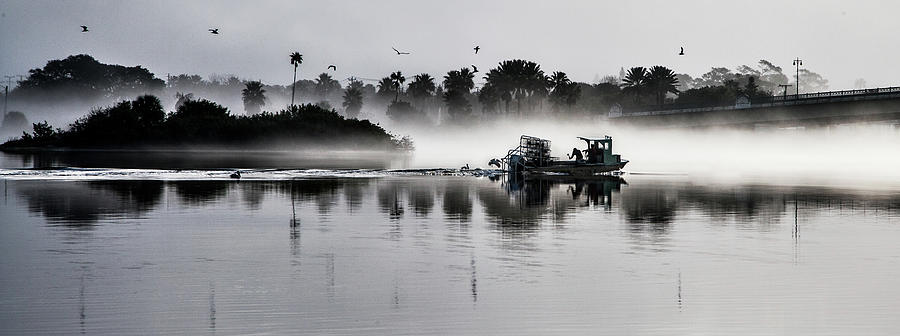 Fishing Photograph - Morning Routine by Ted Petrovits III