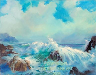 Morning Sea Painting by Gil Ross