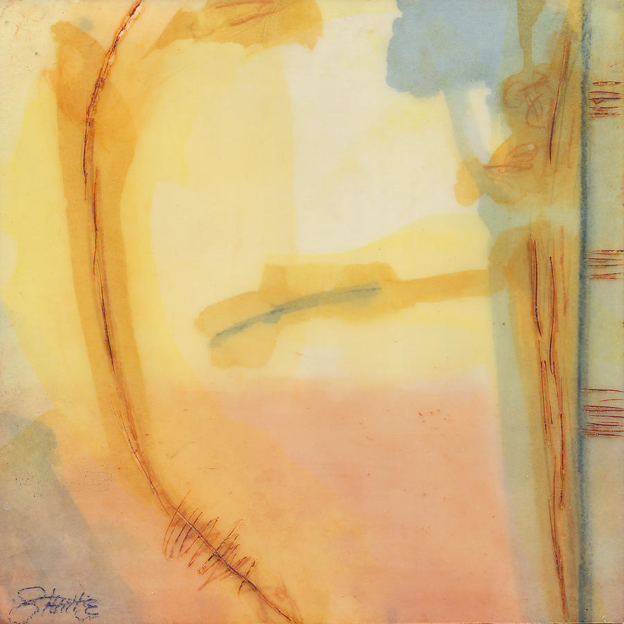 Abstract Paintings Painting - Morning Series - 2 by Sally  Tuttle