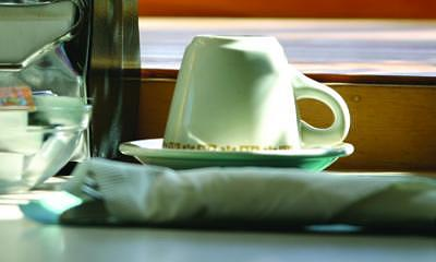 Diner Painting - Morning Setup by Randy Ford